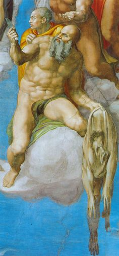 Sixtinische Kapelle, Michelangelo, Jüngstes Gericht, Apostel Bartholomäus (Last Judgment, Apostle Bartholomew) by HEN-Magonza, via Flickr