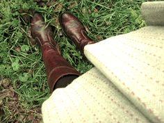vintage skirt, boots, #vintage