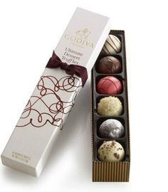 Godiva chocolate - fits perfectly into a stocking ... #Chocolate #Gourmet #GourmetChocolates #Chocolatiers