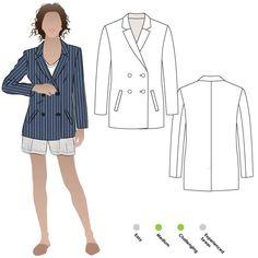 Janie Blazer Sewing Pattern By Style Arc
