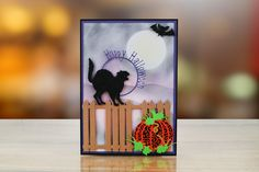 Midnight from the Tattered Lace Halloween 2017 Collection Halloween 2017, Halloween Cat, Happy Halloween, Lace Design, Delicate, Presents, Cards, Inspiration, Collection