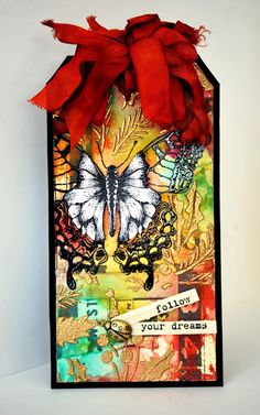 Eileen's Crafty Zone: Tim Holtz Butterfly Tag - March 2015