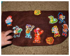 Hoyby Crafts-transform stickers to make them reuseable and perfect for on-the-go activities http://hoybycrafts.blogspot.com #jakeandtheneverlandpirates #reuseablestickers