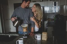 pic of husband and wife making coffee in the kitchen by Tami Keehn How To Make Coffee, Making Coffee, Lifestyle Photography, Couple Photography, Couple Portraits, Couple Photos, Cheap Coffee Maker, Boudoir Photographer, Engagement Shoots