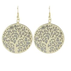 Gold Circled Dangle Earings Brand new! Buckle Jewelry Earrings