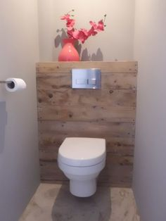 Wall toilet - with bumped out wall. Use the ledge for tissue box, candle, etc.