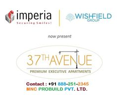 """"""" 37th Avenue """" is a Premium Executive Apartment(Residentials) , includes 1 & 2 bhk in the Affordable Rates"""