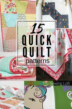 15 Quick Quilt Patterns | Easy to Make
