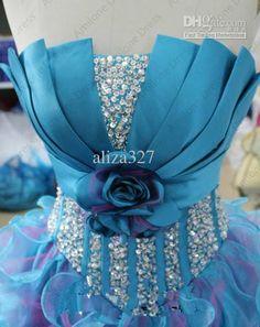 unique top to the quinceañera dress Prom Dresses Under 100, 15 Dresses, Elegant Dresses, Homecoming Dresses, Pretty Dresses, Formal Dresses, Wedding Dress Organza, Blue Wedding Dresses, Lace Wedding