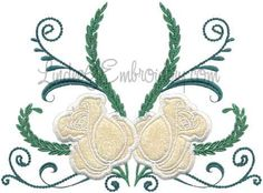 Rose 4 from Elegant Roses Applique.   #machineembroidery #applique #rose #floral