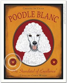 Hey, I found this really awesome Etsy listing at https://www.etsy.com/listing/86114878/white-poodle-art-poodle-blanc-the