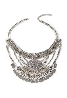 Coin Fringe Pendant Necklace   FOREVER21 - 1000116964