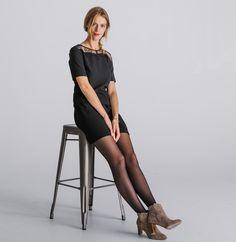 fa8a5e209cf Robe femme effet jupe fantaisie dentelle - Robes   jupes femme - Phildar