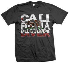 California Diver Scuba Diving T-Shirt