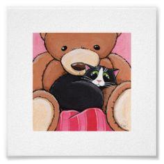 Katze mit Bär