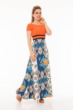 Vestido Oragen - Raje Jeans - Moda Evangélica e Roupa Evangélica: Bela Loba