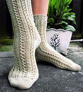 Ravelry: Double Lace Rib Toe-up Socks pattern by Stefanie Pollmeier