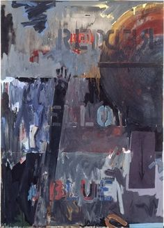 Jasper Johns, Land's End, Oil on Canvas with Wood, 67 in. Collection of the SFMOMA, Gift of Harry & Mary Margaret Anderson. © Jasper Johns /Licensed by VAGA. Jasper Johns, Richard Diebenkorn, Jackson Pollock, Tachisme, Robert Rauschenberg, Franz Kline, Willem De Kooning, Abstract Expressionism, Abstract Art