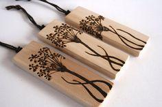 Allium Flower Tree Ornaments  Set of 3  by TwigsandBlossoms