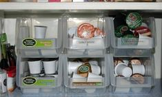 Finally found a good solution for K-Cup storage that fits in our 1948 cabinets :)