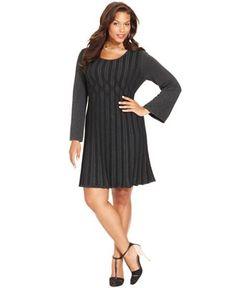 Style&co. Plus Size Ribbed-Knit Sweater Dress - Dresses - Plus Sizes - Macy's