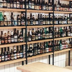 Amsterdam East's Brouwerij 't IJ has got plenty of bottle 🍻 - ± - we-heart.com - ± - #brouwerijhetij #brouwerijtij #craftbeer #amsterdam #visitamsterdam #amsterdamoost #amsterdameast #instaamsterdam #amsterdamcity #interiors #interiordesign #beerstagram #beergeek #beergram #brewery #beertasting #beertography #brouwerij #instabeer #craftbeerlove #design #travel #instatravel #travelblogger #travelinfluencer #igtravel #travelista #wanderlust #passionpassport Bottle Display, Bottle Shop, Wine Display, Beer Store, Liquor Store, Craft Beer Shop, Brewery Design, Bar A Vin, Deco Restaurant