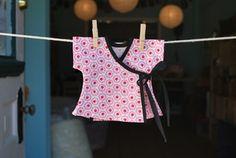 Kimono style wrap shirt