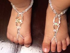 Swarovski Baby Barefoot Sandals Happi Feet Handmade by HappiFeet, $30.00  These are precious!!! babies don't like shoes anyway, so these are perfect ;-)