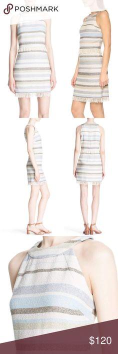 74cceec4128a Tory Burch Striped Sheath Dress Beautiful Tory Burch dress in a striped,  nubby fabric.