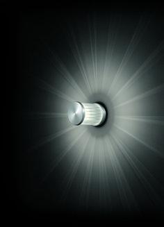 beam . outside luminaire . Außenleuchte . wall luminaire .Wandleuchte . aluminium brushed, anodized, borosilicate glass . Aluminium gebürstet, eloxiert, Borosilikatglas