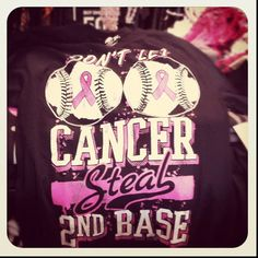 Love it!! Cute idea for a Softball or Baseball team for breast cancer awareness!!!