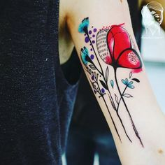 #bumpkintattoo #garden #inked #tattooed #flowertattoo #colortattoo design @lucybumpkin tattoo @richie_bumpkin