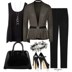 """""""Work to Date Night"""" by elayne-forgie on Polyvore"""