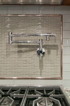 This is a gorgeous kitchen backsplash with Sub-Zero and Wolf appliances.