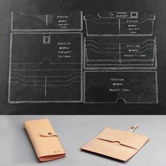 Leather Craft Clear Acrylic Long Wallet Mould Pattern Stencil Template Set for sale online Leather Diy Crafts, Leather Craft Tools, Leather Projects, Leather Wallet Pattern, Leather Stamps, Handbag Patterns, Long Wallet, Card Wallet, Card Case