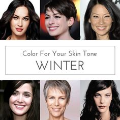 Best Colors for:  Cool Winter, Deep Winter, & Clear Winter Skin Tones  -  especially around the face