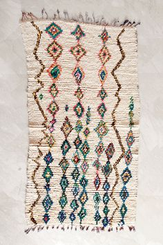 Moroccan boucherouite rug at Pink Rug Co. https://www.etsy.com/listing/229541360/a-narrow-path-through-clear-water-8x4?ref=shop_home_active_1