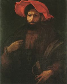 Unknown Man by Rosso Fiorentino, c.1520-1522 (National Gallery, London)