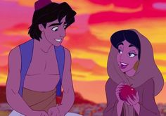 Aladdin, Jasmine, Genie, and Jafar gather on the set of the upcoming live-action Disney remake. Disney Jasmine, Aladdin And Jasmine, Every Disney Princess, Disney Princess Outfits, Disney Couples, Disney Love, Disney Guys, Disney Family, Disney Magic