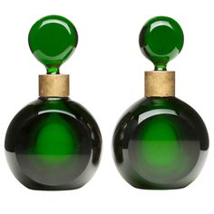 "I would so ""have these on my dresser!!"" Fabulous Pair of Parisian Perfume bottles circa 1920's"
