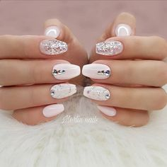 47 Pretty mix and match pink nail art designs - nail art design ideas to try ,mix and match nail art ideas #nails #nailart #manicure #pinknail #glitternails #pinknails