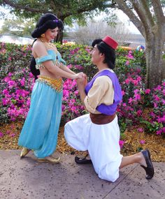 Aladdin and Jasmine. Hold out for your diamond in the rough