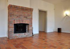 Znalezione obrazy dla zapytania kominek z cegły Brick Fireplace, House, Garage, Home Decor, Living Room, Architecture, Carport Garage, Decoration Home, Home