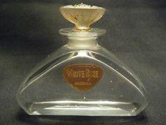 Baccarat French Art Deco Commerical Perfume Bottle White Rose | eBay