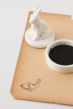 Ceramic Rabbit Stamper - Anthropologie.com