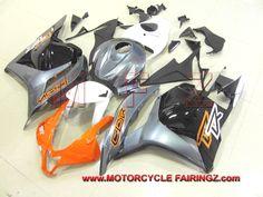 2009-2012 HONDA CBR 600 RR ABS Plastic Fairings Orange Grey Black FFKHD010
