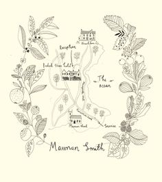 Wedding map. Wedding stationery designed and illustrated by Ryn Frank www.rynfrank.co.uk