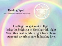 Healing spell #CroweFeatherWitchDownunder
