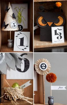 hallowen countdown calendar with tutorials and printables