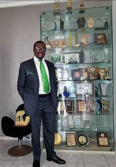 Photo: Alibaba Celebrates 30 Years Of Career As He Poses With His Award Collection